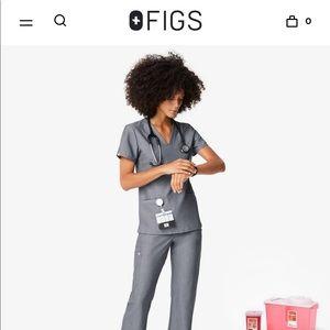FIGS Graphite Scrubs SET - XXS -New w/ Tags!!